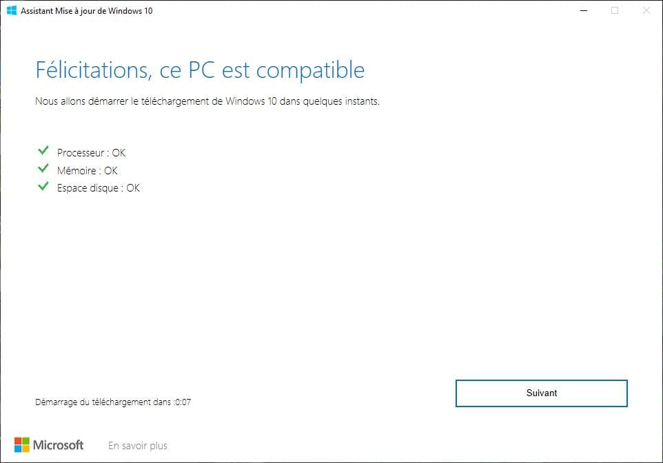 PC compatible Windows 10 mai 2019 1903
