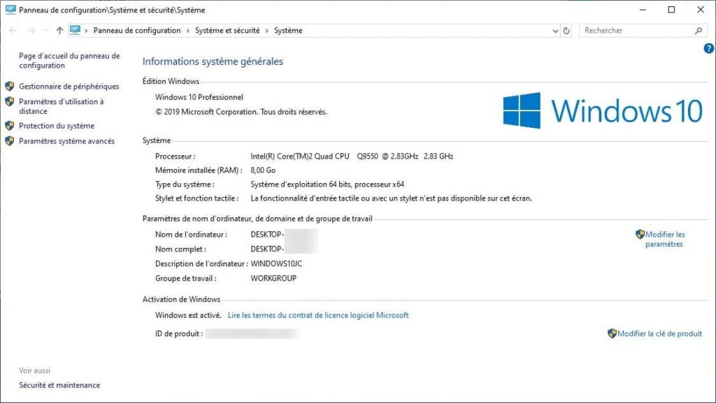 desactiver swap disque windows 10