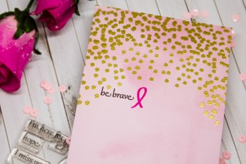 Clean and Simple Embossing – Breast Cancer Awareness Month