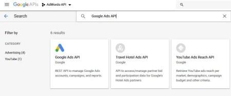 Select Google Ads API