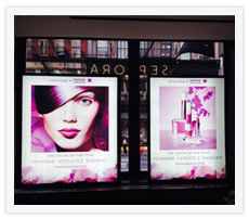 Sephora Lightboxes. All graphics and Designs by Sephora. Built and Installed by JCDP
