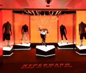Niketown Hyperwarm. Designed and produced by Nike and Tangram Int. Installed by JCD