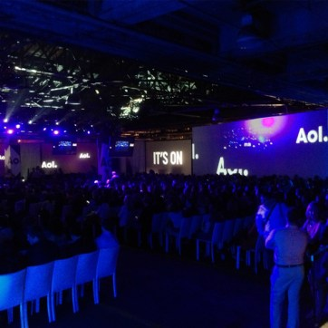 AOL Newfront. Designed and produced by AgencyEA. Built by JCDP