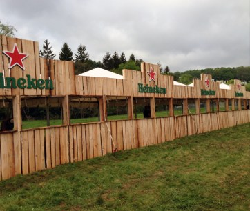 Produced by ID&T for Heineken. Woodstock Music Festival. Built and installed by JCDP
