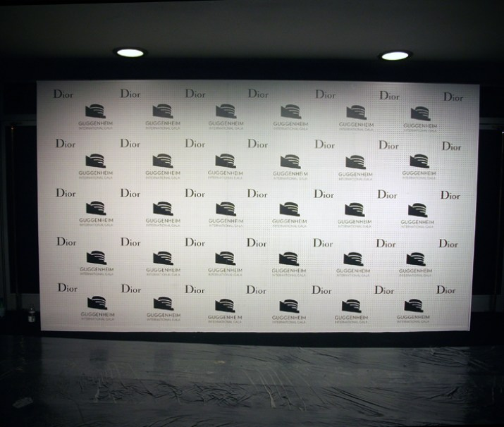 Step and Repeat for Dior Guggenheim International Gala 2014. Designed and Produced by BureauBetak. Built by JCDP