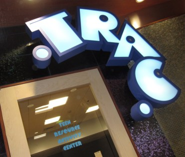 Trac sign. Designed by Janice Davis Deisgn. Built by JCDP
