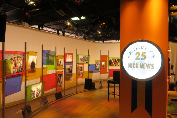 We built this new set studio for the 25th Anniversary of Nick News. Designed by Clay Brown and produced by Lucky Duck Productions