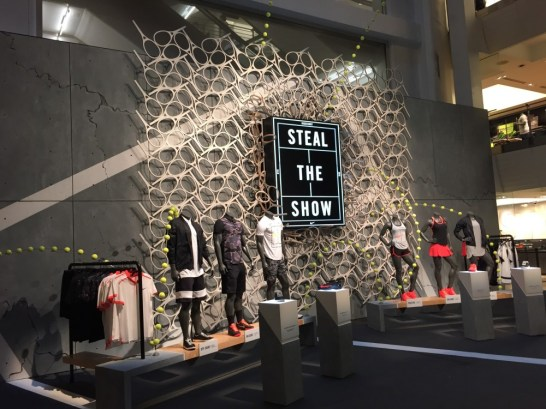 For Niketown NY. JCDP and Tagram teamed up for the US Open display