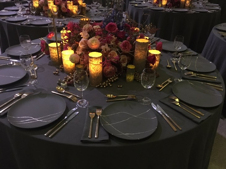 Guggenheim International Gala 2017. JCDP had the opportunity to work with BureauBetak and the Museum again this year, creating this set of beautiful gold leaf plates and step and repeat.