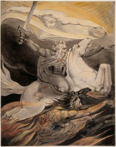 Death on a Pale Horse (by William Blake, pen and watercolor on paper, England, c. 1800)