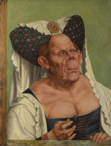 An Grotesque Woman by Quenten Matys (oil on oak, Germany, c. 1513)