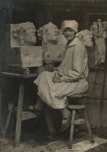 Angela Gregory as a young artist