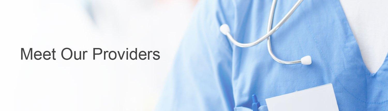 Hospital team member wearing stethoscope