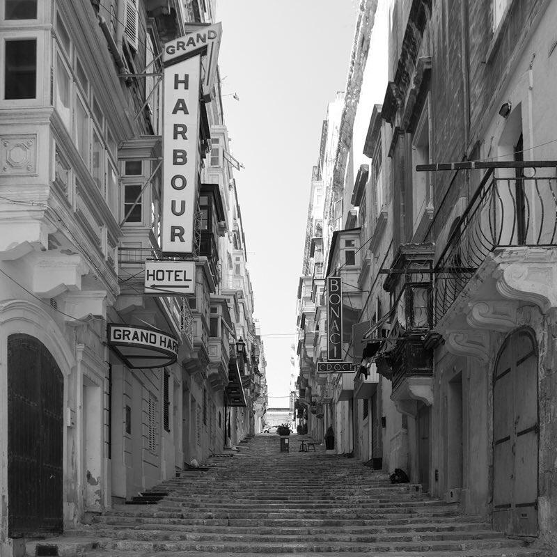 Wandering around Valletta  BlackAndWhite July Nikon Malta ProCamApp JCiappara