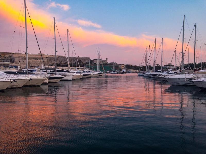 Good Evening! Sunset  Evening ShotOniPhone Marina Reflection ProCamApp