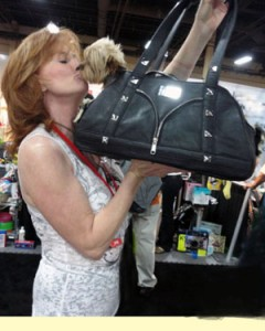 Love at first site. This buyer would not leave without the bag.