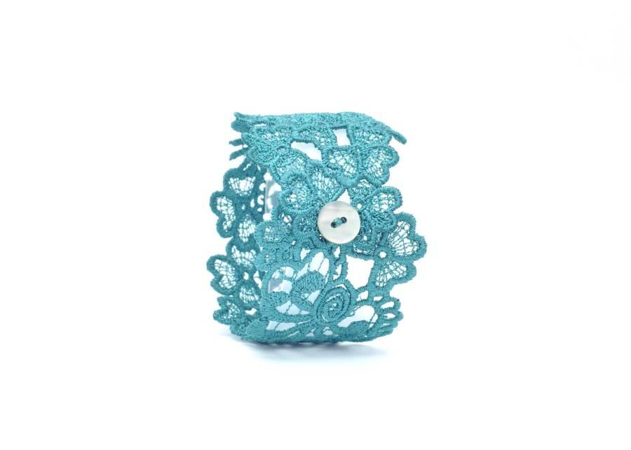 Lace Cuff Bracelet Emerald