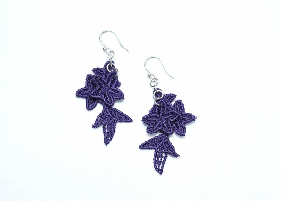 Jasper Lace Earring E8 Deep Purple