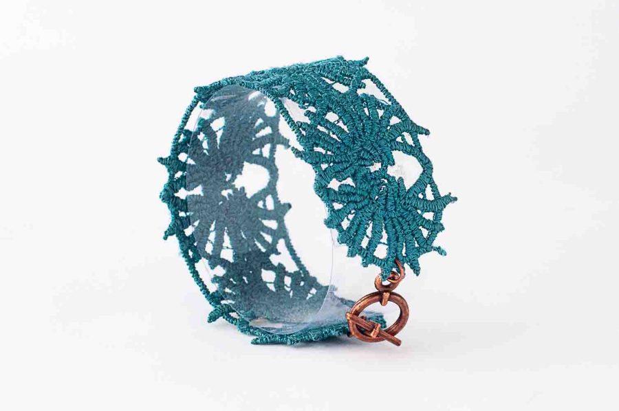 DH Lawrence turquoise lace bracelet