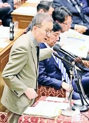 質問する笠井亮議員=29日、衆院予算委