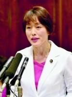 質問する田村智子議員=14日、参院予算委
