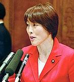(写真)質問する田村智子議員=17日、参院予算委