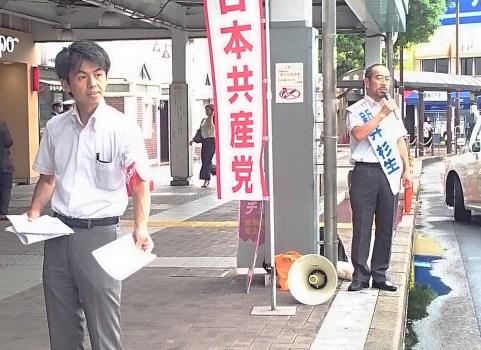「野党・市民と共同して頑張ります」江戸川区・JR小岩駅前で宣伝
