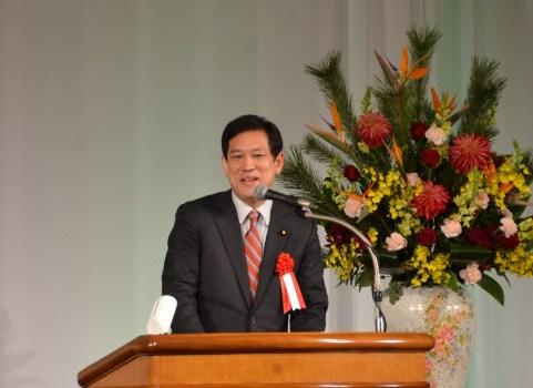 東京土建が70周年 記念式典で宮本徹衆院議員が連帯あいさつ