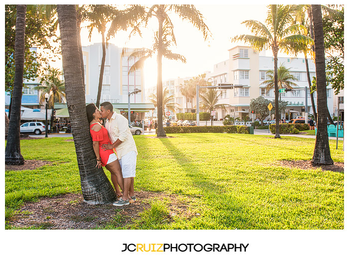South Beach engagement shoot