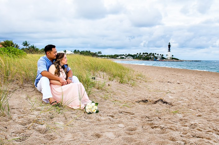bridal portrait on Fort Lauderdale beach