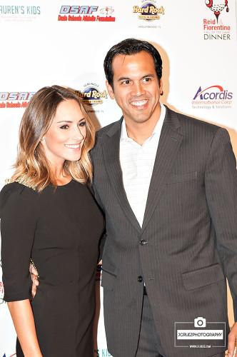 Miami Heat coach Eric Spoelstra with his girlfriend