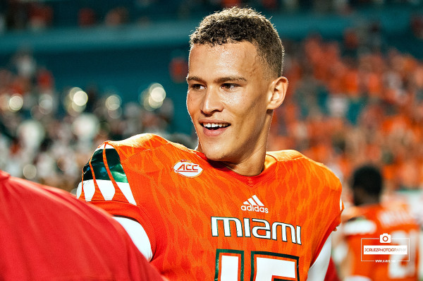 Brad Kaaya shakes hands after the game