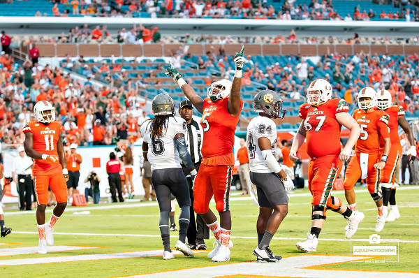 Standish Dobard celebrates a touchdown