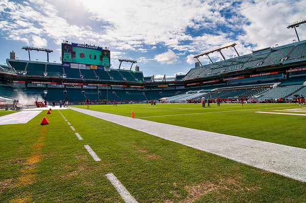 Sunlife Stadium before the teams take the field to warmup