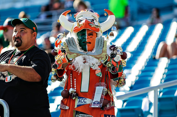 The Miami Hurricanes have some passionate fans