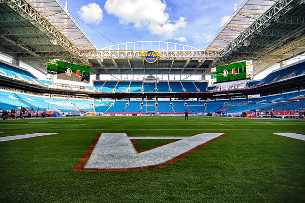 Hard Rock Stadium before the Miami vs. FSU game