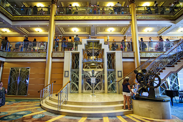 Main lobby aboard the Disney Magic