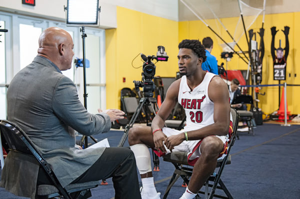 Justise Winslow, Heat forward, gives an interview to Telemundo