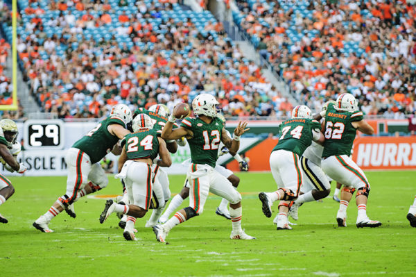 Malik Rosier throws a short screen pass