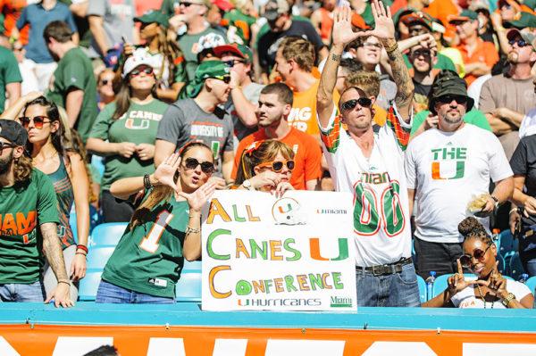 Miami Hurricane fans