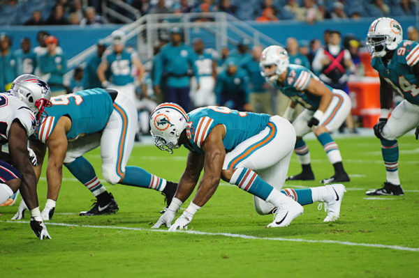 Cameron Wake (91) is ready to explode