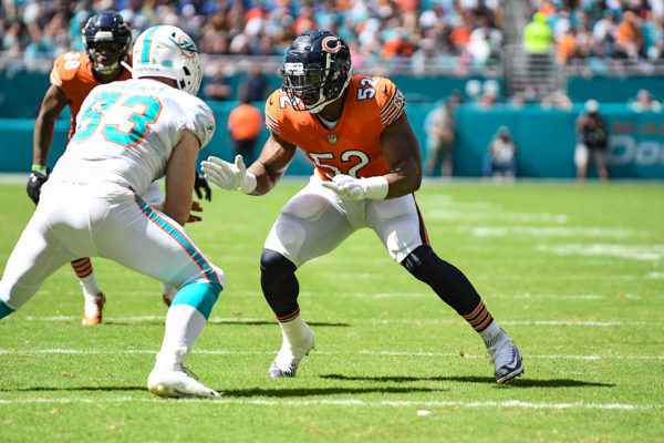 Chicago Bears outside linebacker Khalil Mack (52)
