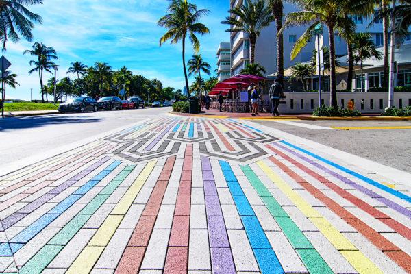 LGBT crosswalk, Miami Beach