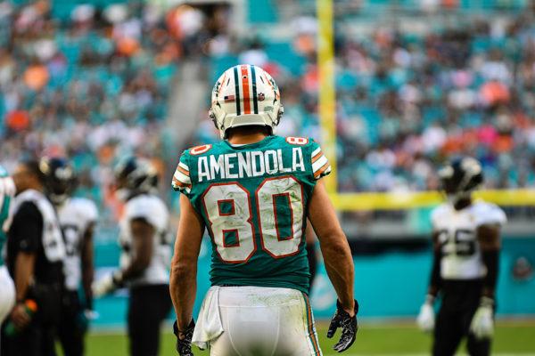 Miami Dolphins wide receiver Danny Amendola (80)