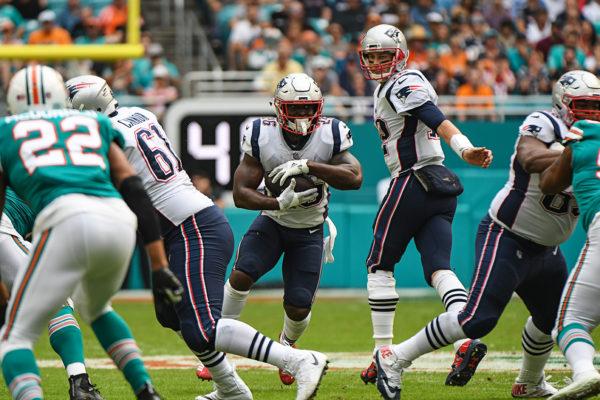 New England Patriots running back Sony Michel (26)