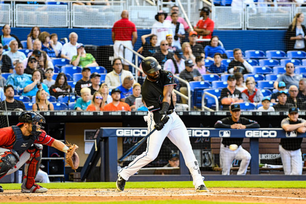 Miami Marlins right fielder Isaac Galloway #79
