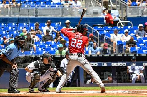 Washington Nationals left fielder Juan Soto #22