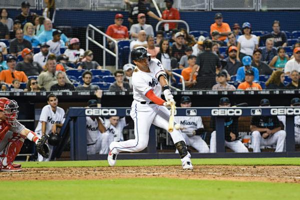 Miami Marlins third baseman Martin Prado (14)