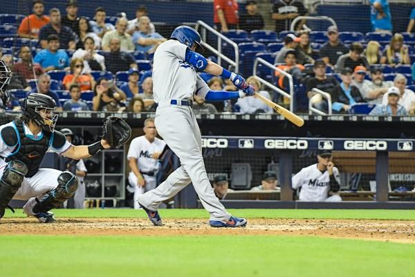 LA Dodgers Cody Bellinger (35) hits a homerun