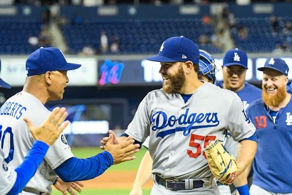 LA Dodgers catcher Russell Martin